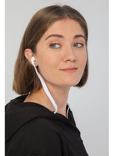 Modaset Kadın Kulaklık Detaylı Sweatshirt  Siyah